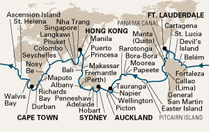 2013 World Cruise Itinerary onboard the ms Amsterdam
