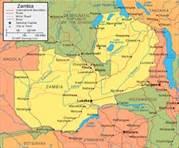 Zambia country map