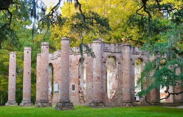 Sheldon ruins outside Beaufort, SC USA copyright Mary Jane Wood Zabinski
